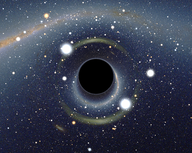 A simulated view of a black hole