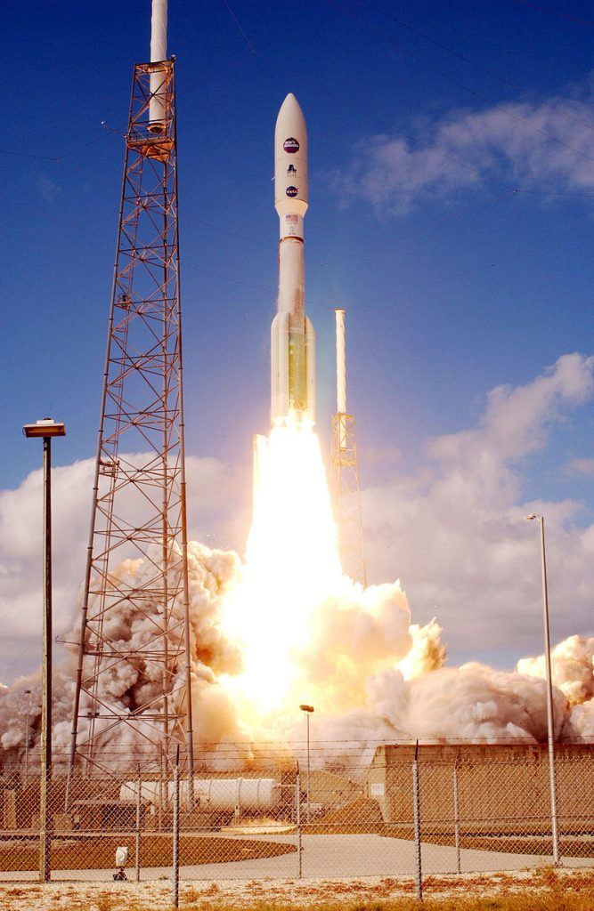 Atlas V551 roars into blue sky