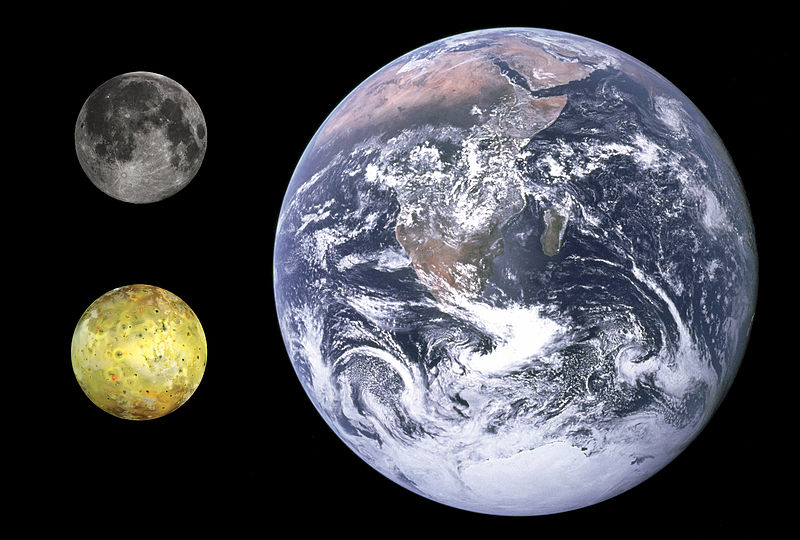 Io Earth Moonsize comparison Formation