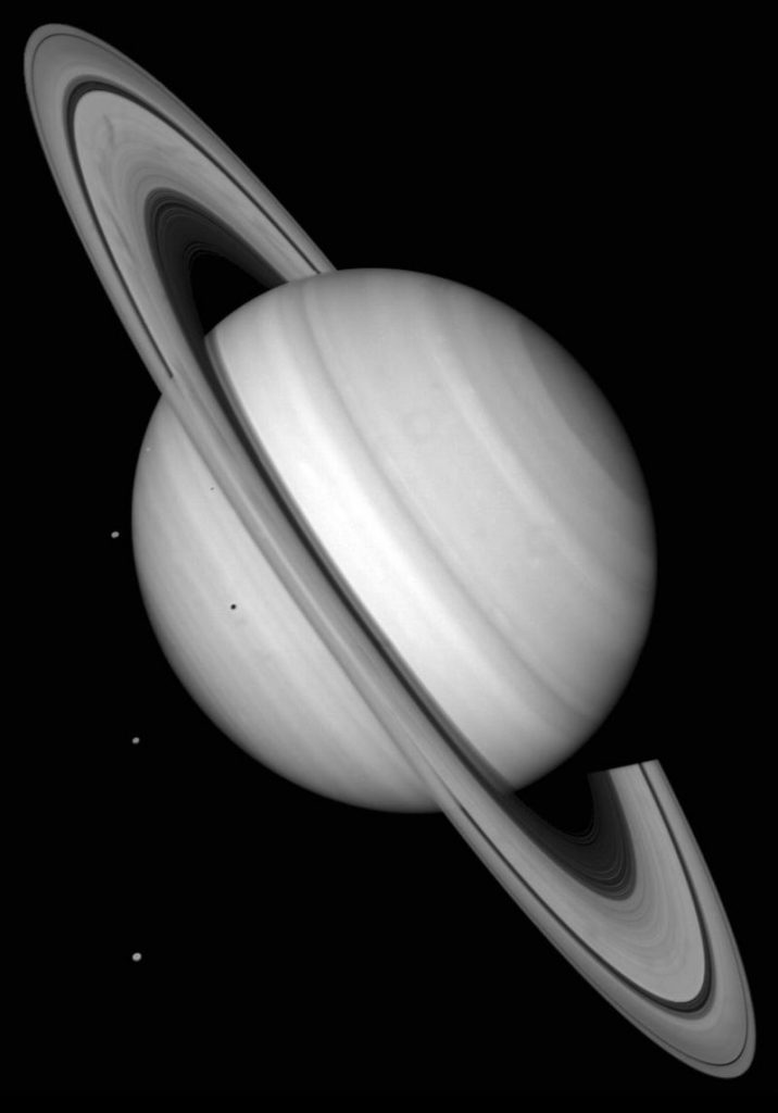 Saturn with 4 moons