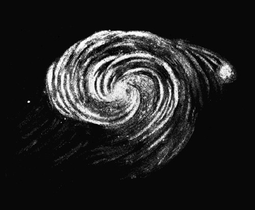 Sketch of M51 by Lord Rosse in 1845