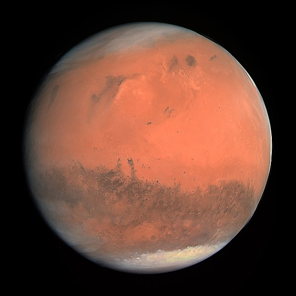 Mars pictured in natural color