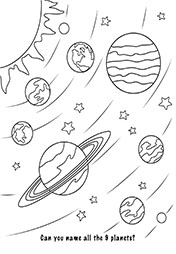 Planet Coloring Pages - Free Printable Solar System Coloring ...
